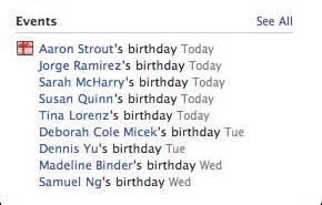 facebook birthday